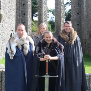Game of Thrones Winterfell Tour with Direwolves for Two