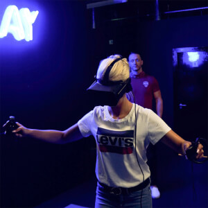Zombie Apocalypse Free-Roam VR Experience for Two