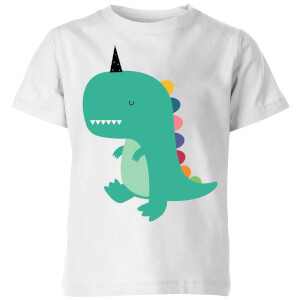 Andy Westface Dinocorn Kids' T-Shirt - White