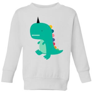 Andy Westface Dinocorn Kids' Sweatshirt - White