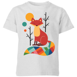 Andy Westface Rainbow Fox Kids' T-Shirt - Grey