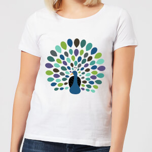 Andy Westface Peacock Time Women's T-Shirt - White