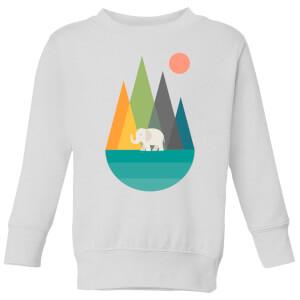 Andy Westface Walk In Peace Kids' Sweatshirt - White