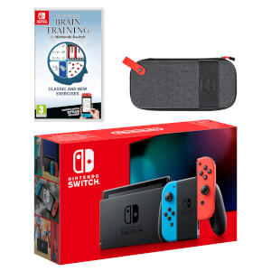 Nintendo Switch (Neon Blue / Neon Red) Dr Kawashima's Brain Training for Nintendo Switch Pack