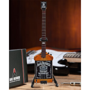 Axe Heaven Van Halen Michael Anthony Jack Daniel's Miniature Bass Guitar Replica