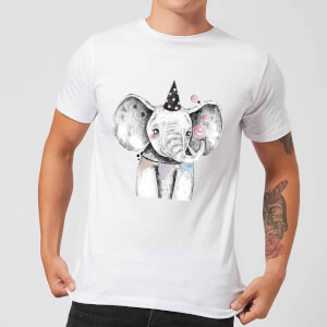 Party Elephant Men's T-Shirt - White