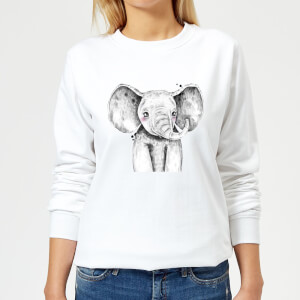 Cute Elephant Women's Sweatshirt - White