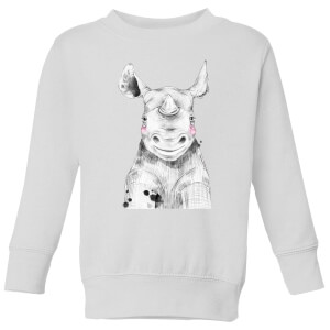Blushed Rhino Kids' Sweatshirt - White