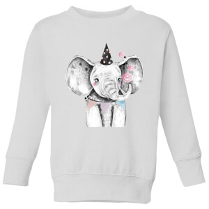 Party Elephant Kids' Sweatshirt - White