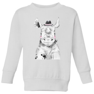 Literate Rhino Kids' Sweatshirt - White