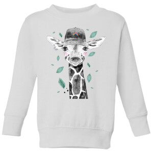 Rainbow Giraffe Kids' Sweatshirt - White