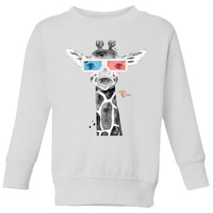 3D Giraffe Kids' Sweatshirt - White