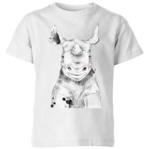 Blushed Rhino Kids' T-Shirt - White