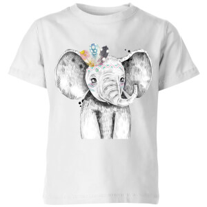 Indie Elephant Kids' T-Shirt - White