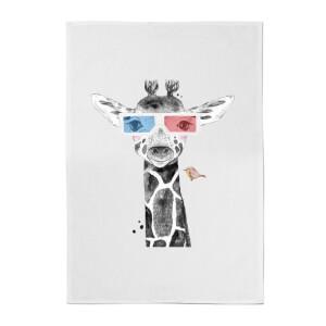 3D Giraffe Cotton Tea Towel
