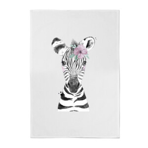 Floral Zebra Cotton Tea Towel