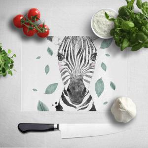 Zebra And Leaves Chopping Board