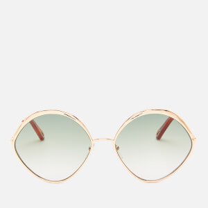 Chloé Women's Dani Round Frame Sunglasses - Gold/Green