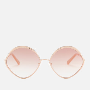 Chloé Women's Dani Round Frame Sunglasses - Rose Gold
