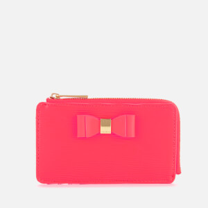 Ted Baker Women's Blueb Bow Detail Card Holder - Neon Orange