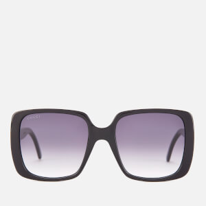 Gucci Women's Oversized Square Frame Acetate Sunglasses - Black/Grey