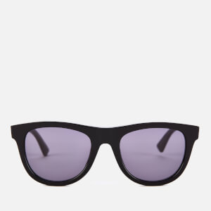 Bottega Veneta Women's D-Frame Acetate Sunglasses - Black/Grey