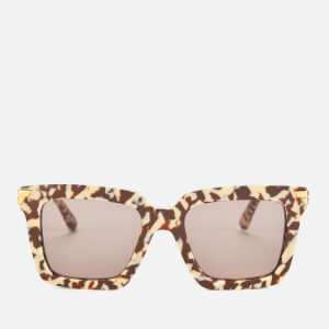 Bottega Veneta Women's Oversized Acetate Sunglasses - Brown