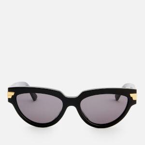 Bottega Veneta Women's Cat Eye Acetate Sunglasses - Black/Grey