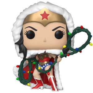 DC Comics Holiday Wonder Woman with Lights Lasso Pop! Vinyl Figure