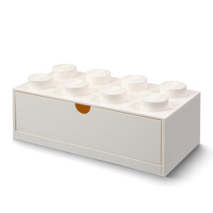 LEGO Storage Desk Drawer 8 - White