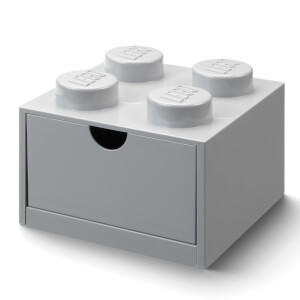 LEGO Storage Desk Drawer 4 - Grey