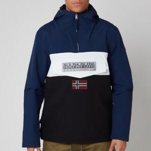 Napapijri Men's Rainforest S Block Hooded Popover Jacket - Black