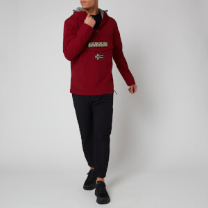 Napapijri Men's Rainforest Sum T Hooded Popover Jacket - Cherry Bordeaux