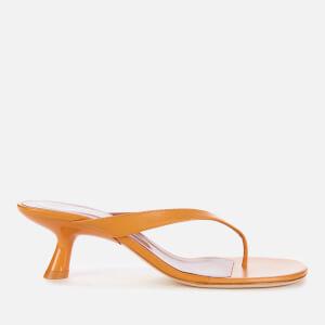 Simon Miller Women's Beep Leather Toe Post Kitten Heels - Camel