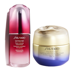 Shiseido Vital Perfection Uplifting Day Cream and Ultimune 50ml Bundle