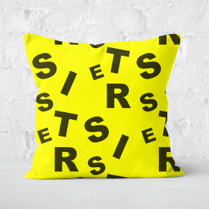 Sister Pattern Square Cushion