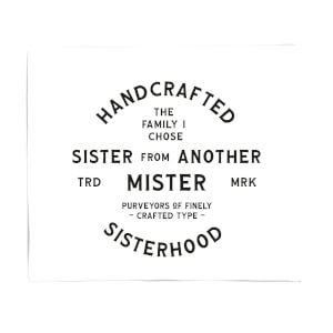 Sister From Another Mister Fleece Blanket