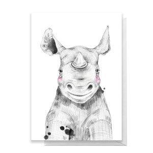 Rhino Greetings Card