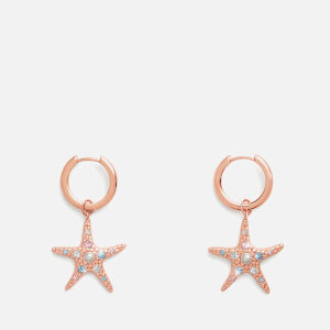 Olivia Burton Women's Starfish Sparkle Huggies - Rose Gold