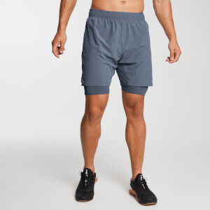 Essential Woven 2-in-1 Training Shorts - Mörkblå