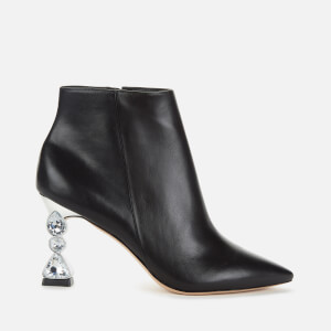 Sophia Webster Women's Bijou Leather Heeled Ankle Boots - Black/Silver