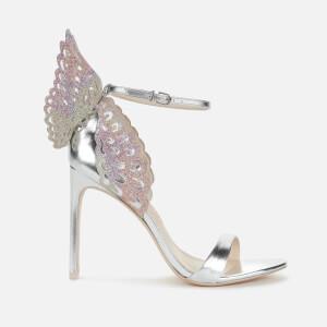 Sophia Webster Women's Evangeline Heeled Sandals - Silver/Rainbow Glitter