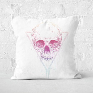 Skull In A Triangle Cushion Square Cushion