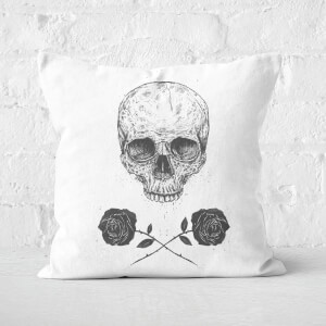 Skull And Roses Cushion Square Cushion