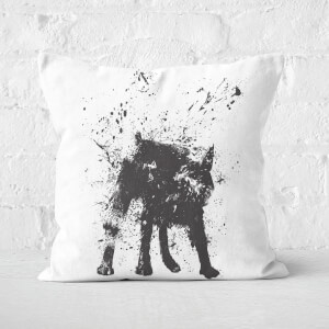 Wet Dog Cushion Square Cushion