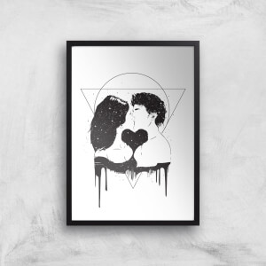 Cosmic Love Black & White Print Giclee Art Print
