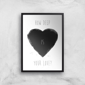 How Deep Is Your Love Print Giclee Art Print