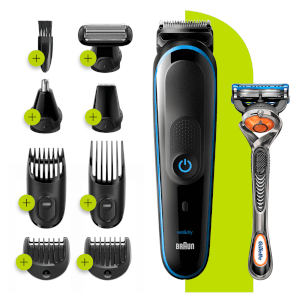 Braun 9-in-1 All-in-one Trimmer 5 MGK5280, Black/Blue