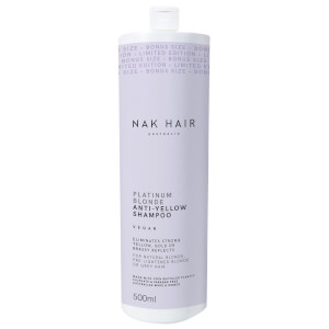NAK Platinum Blonde Anti-Yellow Shampoo 500ml