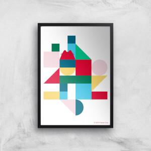 Pusheen Geometric Giclee Art Print